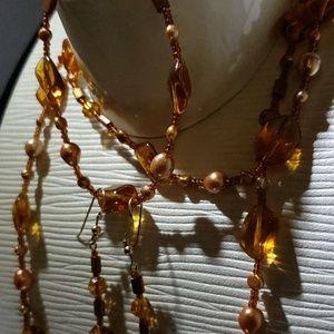 majestic color necklase bracelet earings